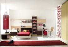 modern genç erkek odası