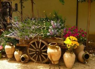vintage bahçe dekorasyonu