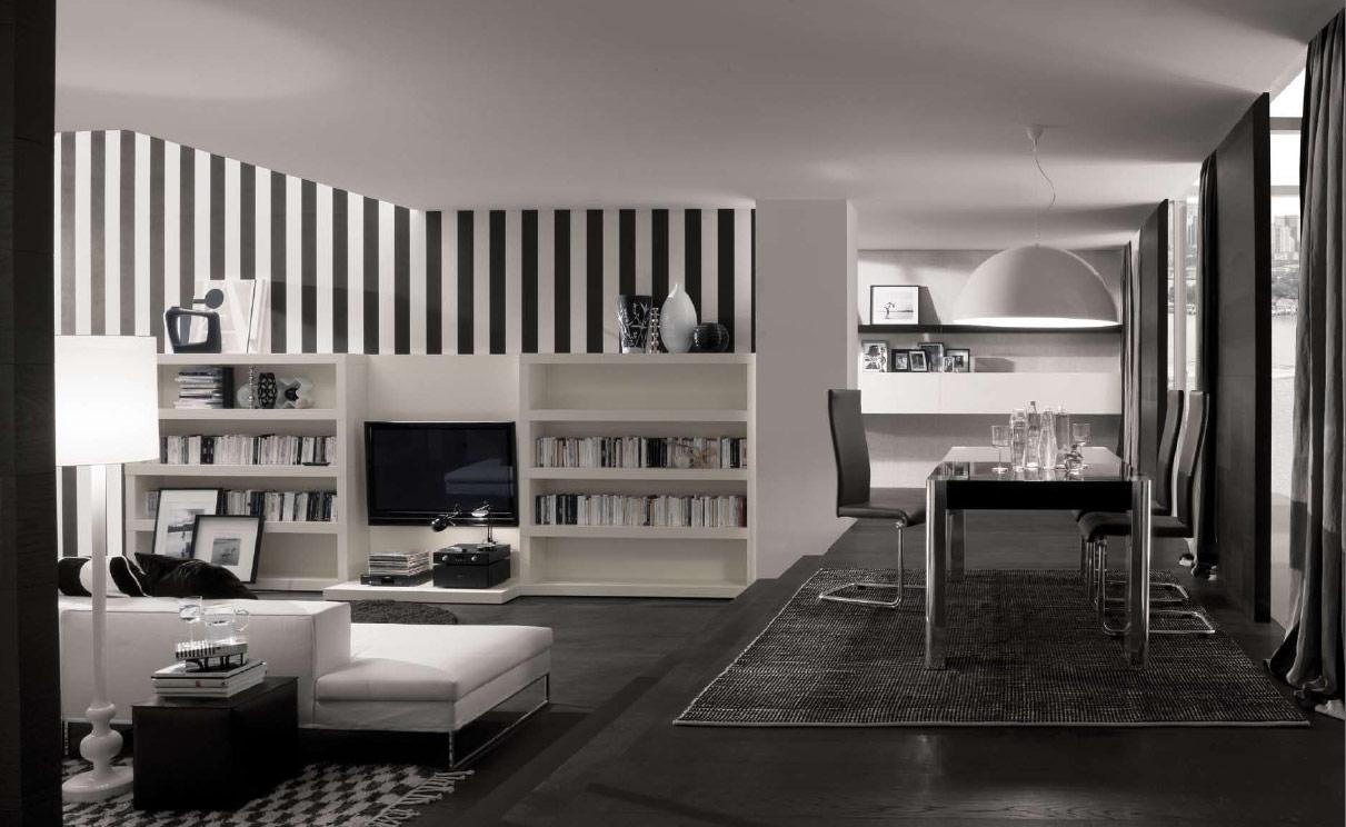 siyah beyaz ev dekorasyonu 1