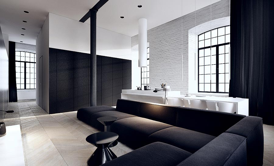 siyah beyaz ev dekorasyonu 4