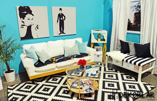 Evinizde Mavi Renk Modası - 5