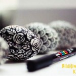 Siyah Beyaz Desenli Yumurta - 3