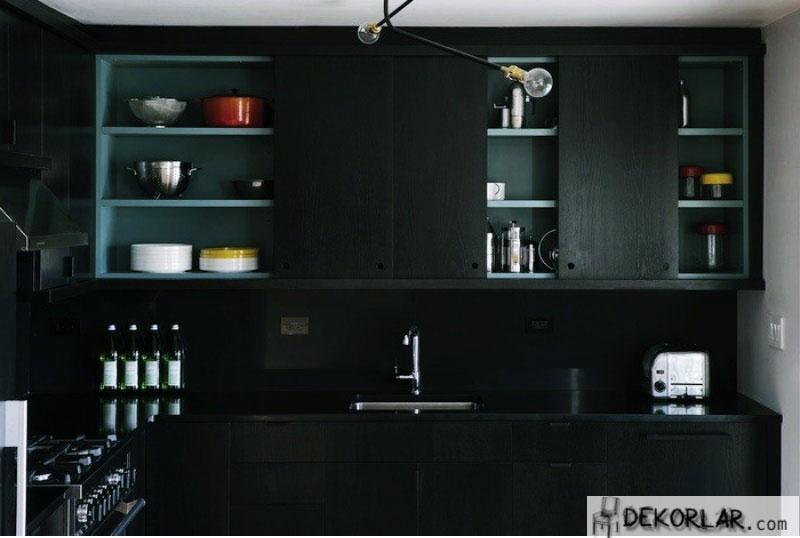 Siyah Mutfak Tasarımı - 2