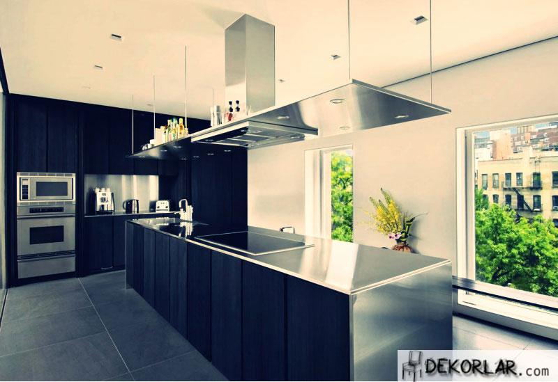 Siyah Mutfak Tasarımı - 3