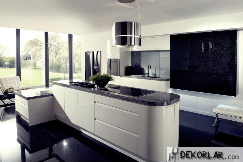 Siyah Mutfak Tasarımı - 4