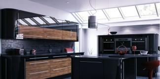 Siyah Mutfak Tasarımı - 5