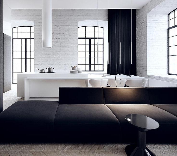 siyah beyaz ev dekorasyonu 3