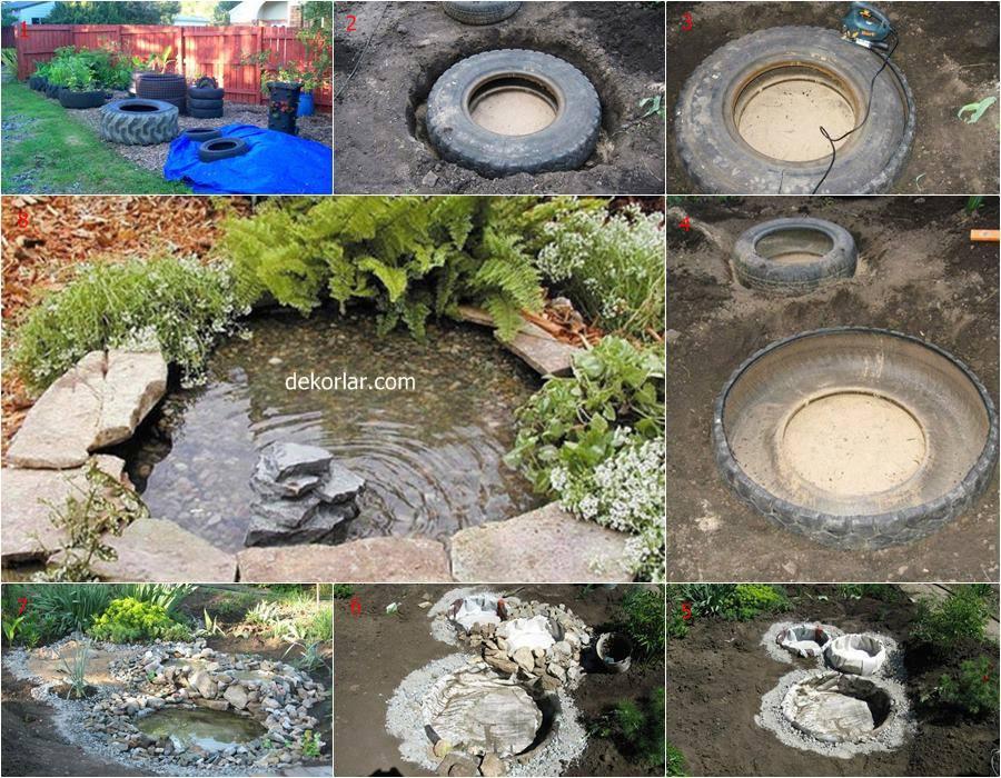 Tekerlekten Süs Havuzu Yapımı