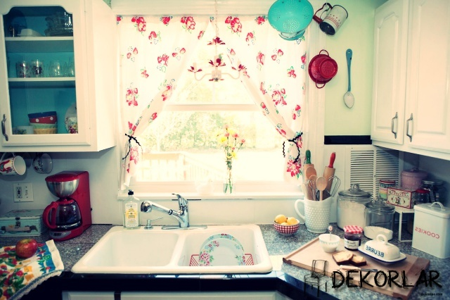2015 Mutfak Perde Öneriler - 2
