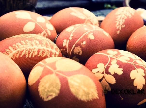 Yaprak Desenli Yumurta - 1
