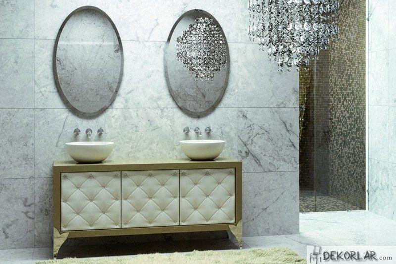 Lüks Banyo Dolabı Modelleri - 10