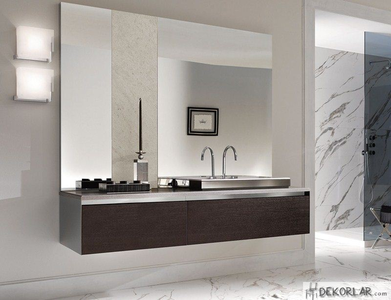 Lüks Banyo Dolabı Modelleri - 14