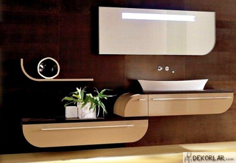 Lüks Banyo Dolabı Modelleri - 9