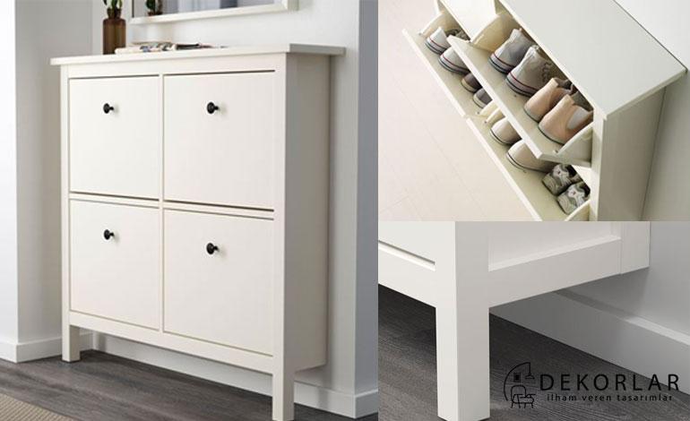 IKEA Ayakkabılık Modelleri : Hemnes (Beyaz)