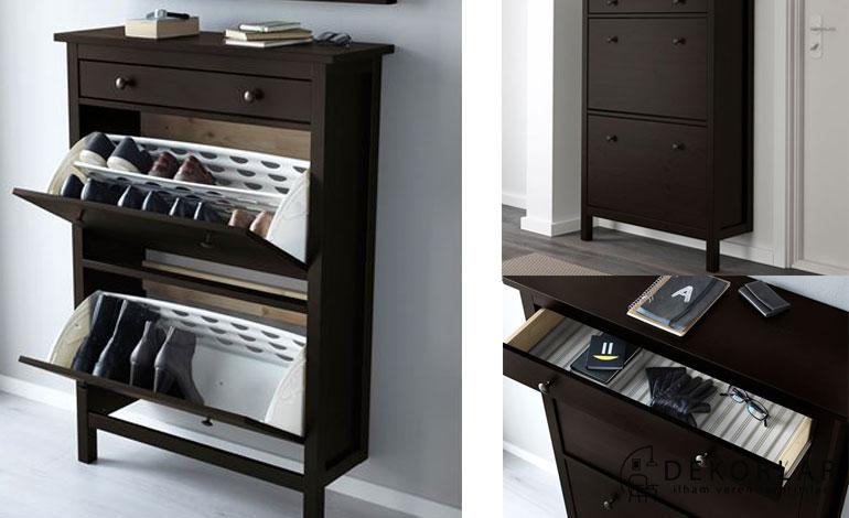 IKEA Ayakkabılık Modelleri : Hemnes (Kahverengi)